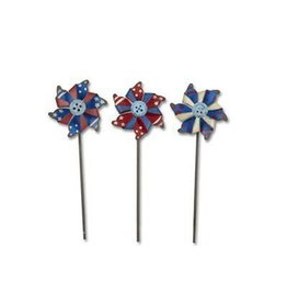 Studio M Mini Patriotic Pinwheels Set/3 Asst