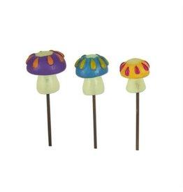 Studio M Mini Glow Mushroom Picks Set/3 Asst