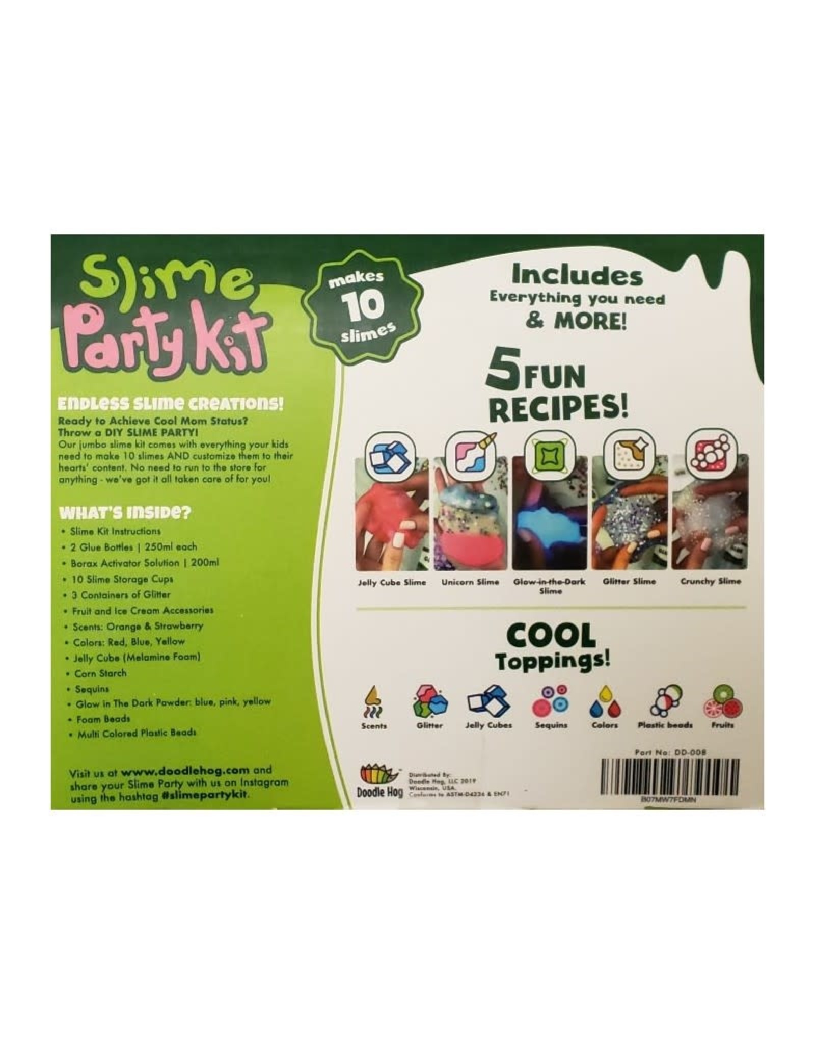 Doodle Hog Unicorn Slime Making Kit