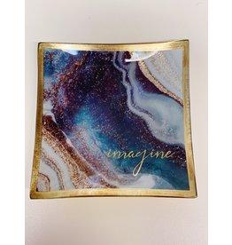 Karma Glass Tray Marble Swirl