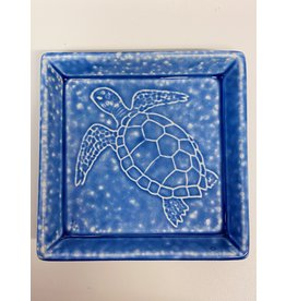 Kotobuki Trading Co. Inc Plate Square Blue Irabo Sea Turtle