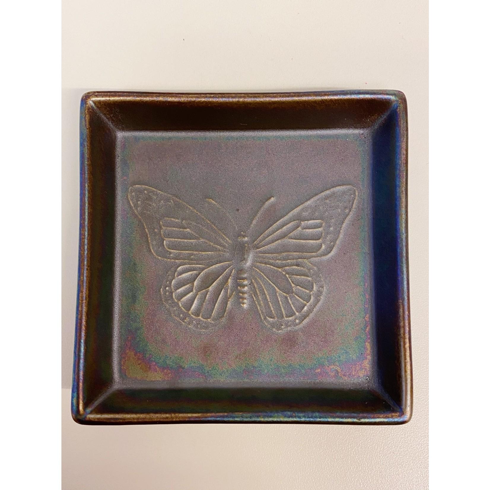 Kotobuki Trading Co. Inc Plate Sq Rainbow Lstr Butterfly