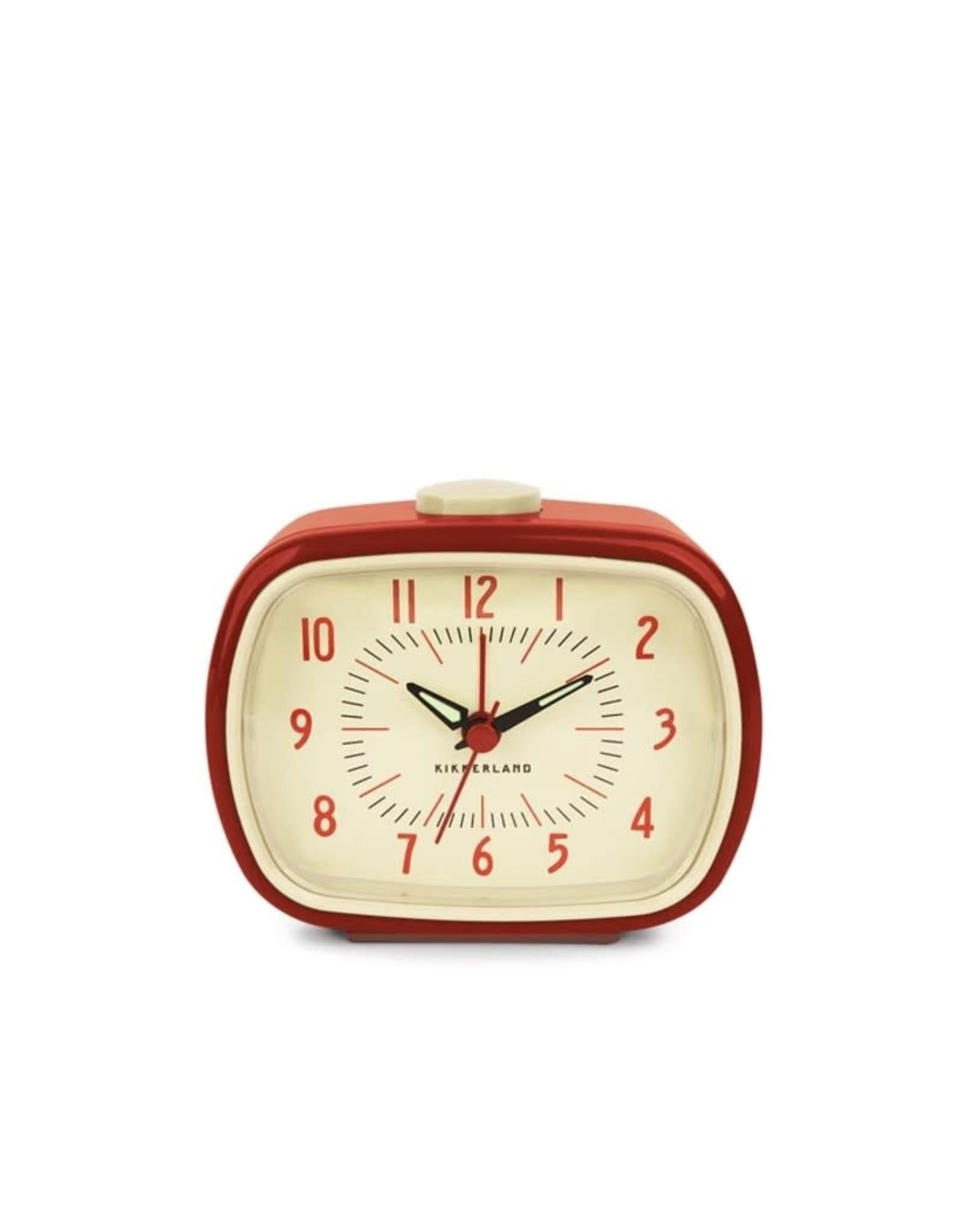 Kikkerland Retro Alarm Clock Red