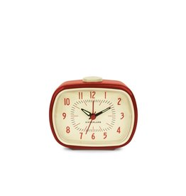Kikkerland Retro Alarm Clock Red