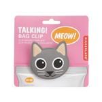 Kikkerland Talking Bag Clip Cat