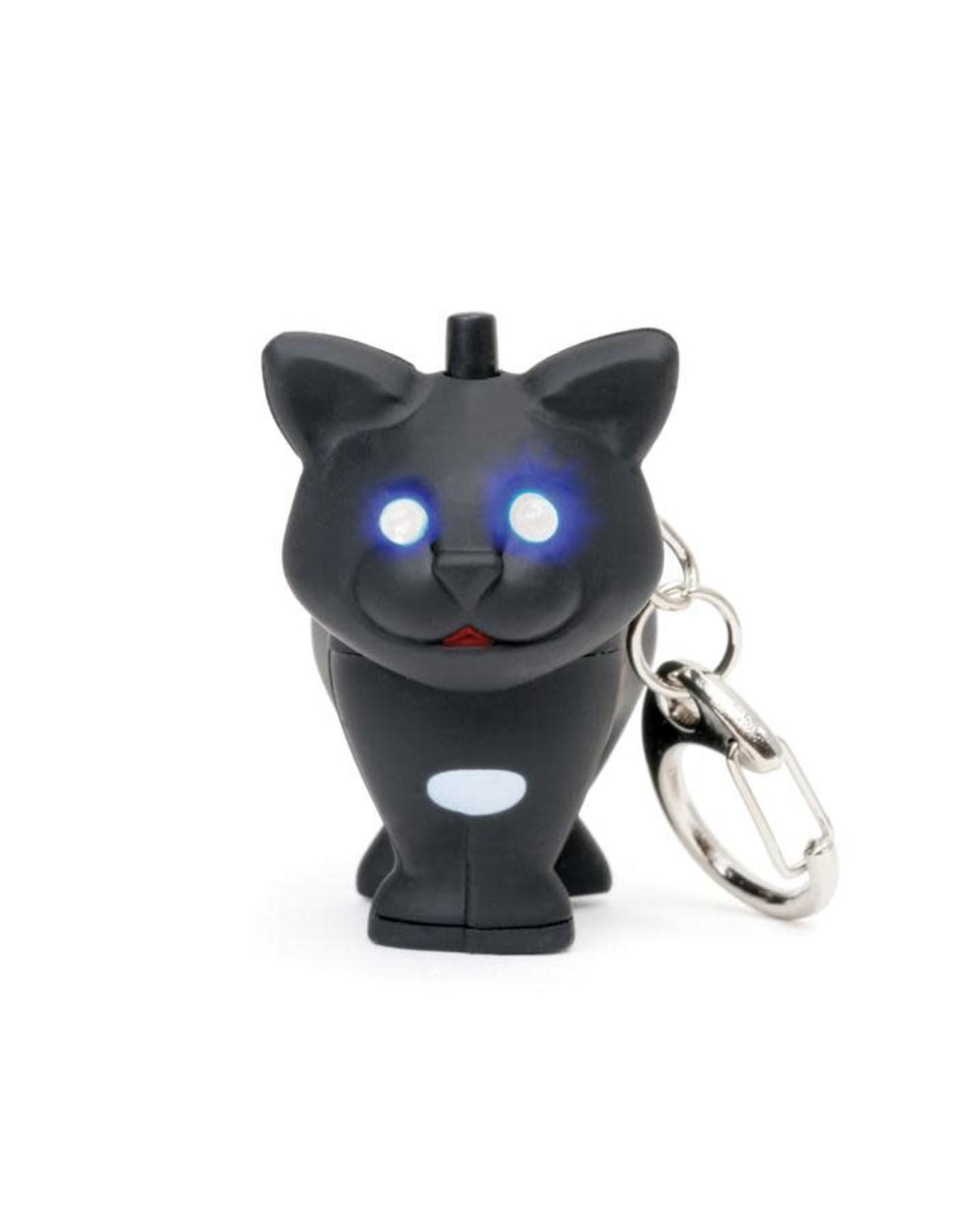 Kikkerland Cat LED Keychain Carded/CDU