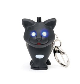Kikkerland Cat LED Keychain Carded/CDU