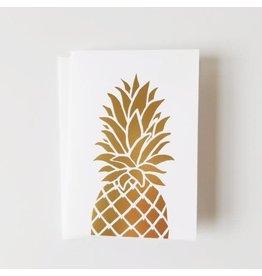 Bradley & Lily 4-Bar Foil Pineapple Folded Set (6)