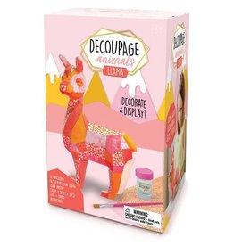 Bright Stripes Decoupage Animals - Llama