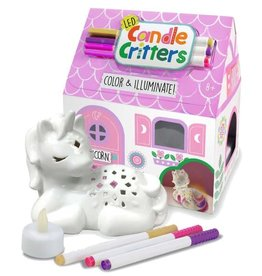 Bright Stripes LED Candle Critters: Unicorn