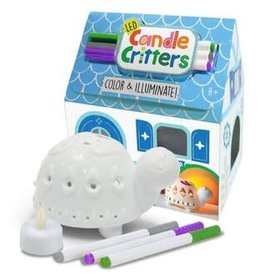 Bright Stripes LED Candle Critters: Turtle