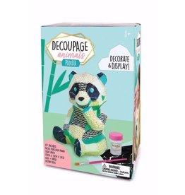 Bright Stripes Decoupage Animals - Panda