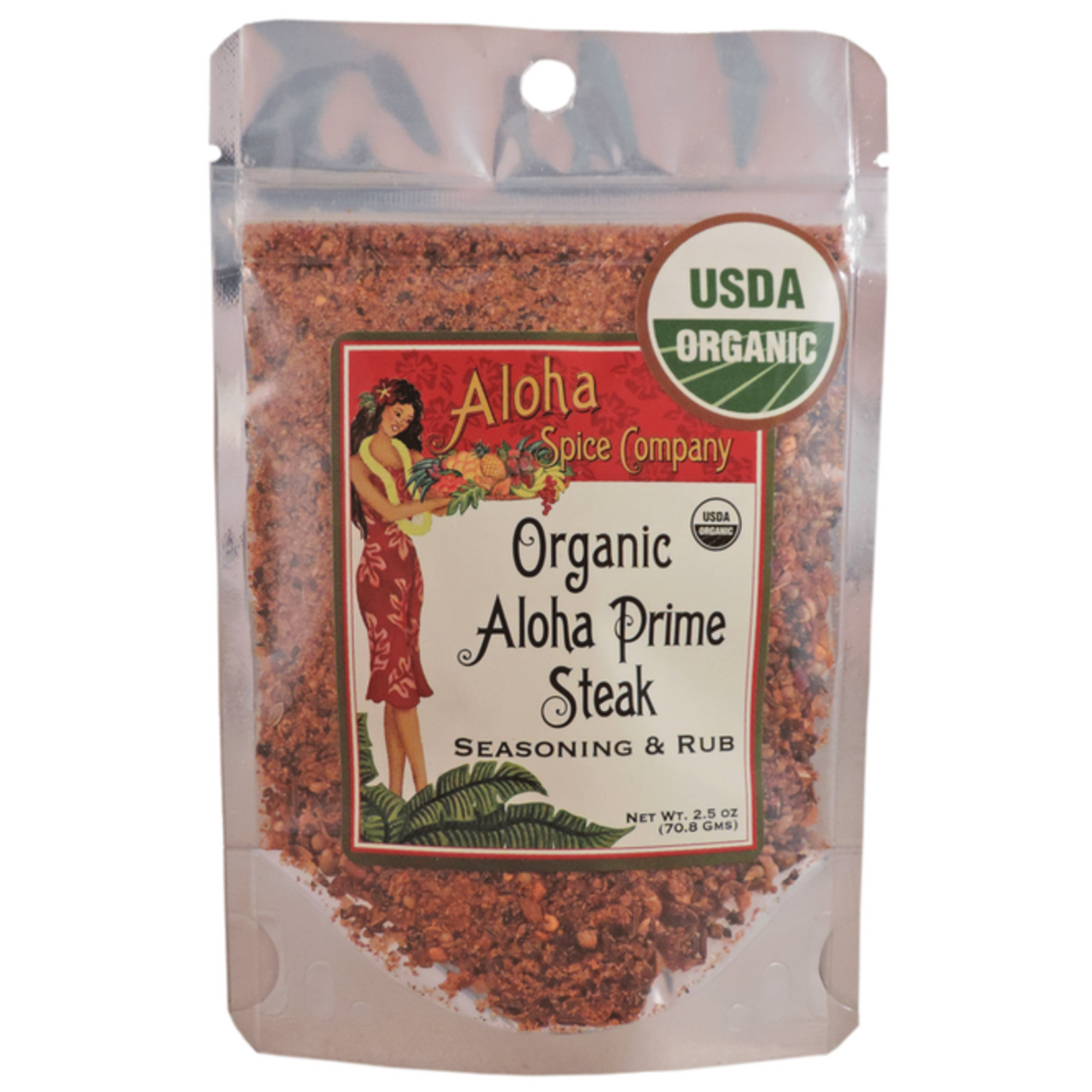 Aloha Spice Co. Organic Aloha Prime Steak Seasoning & Rub