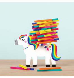 MudPuppy Pony Pile-Up Wooden Balancing Game
