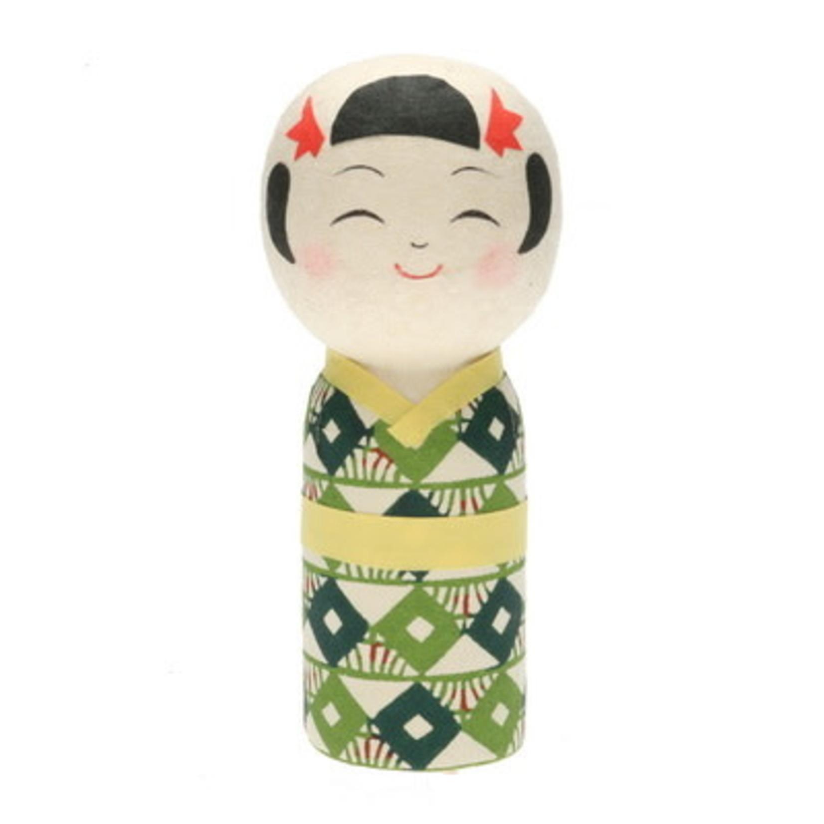 Kotobuki Trading Co. Inc Kokeshi Katazome Mariko