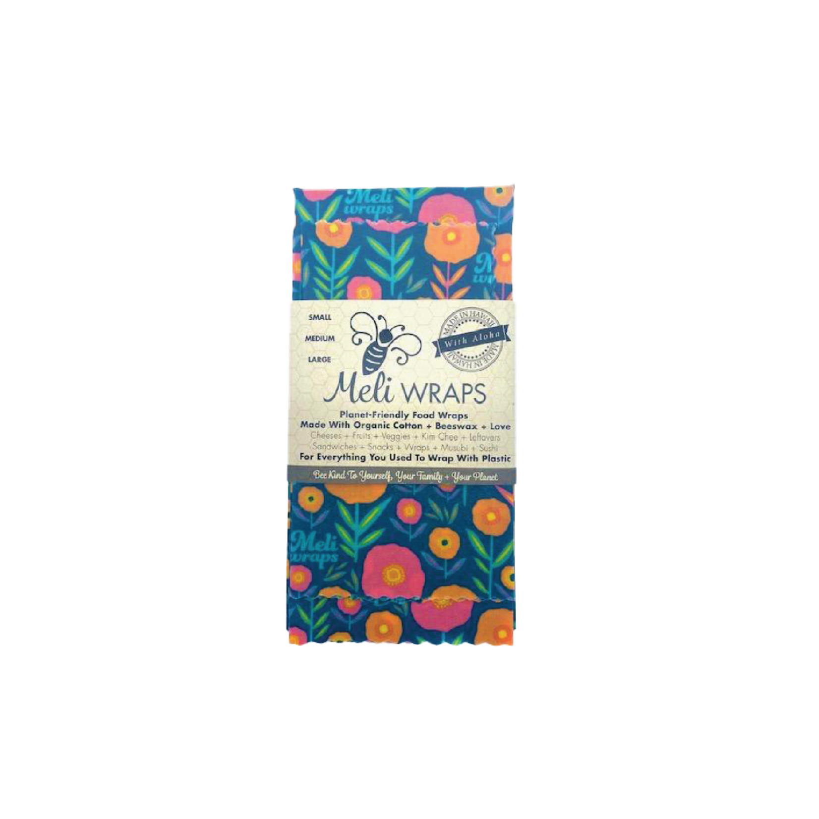 Meli Wraps Reusable Beeswax Food Wraps (3 Pack)