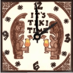 Aloha Spice Co. Tiki Time Clock - 6""