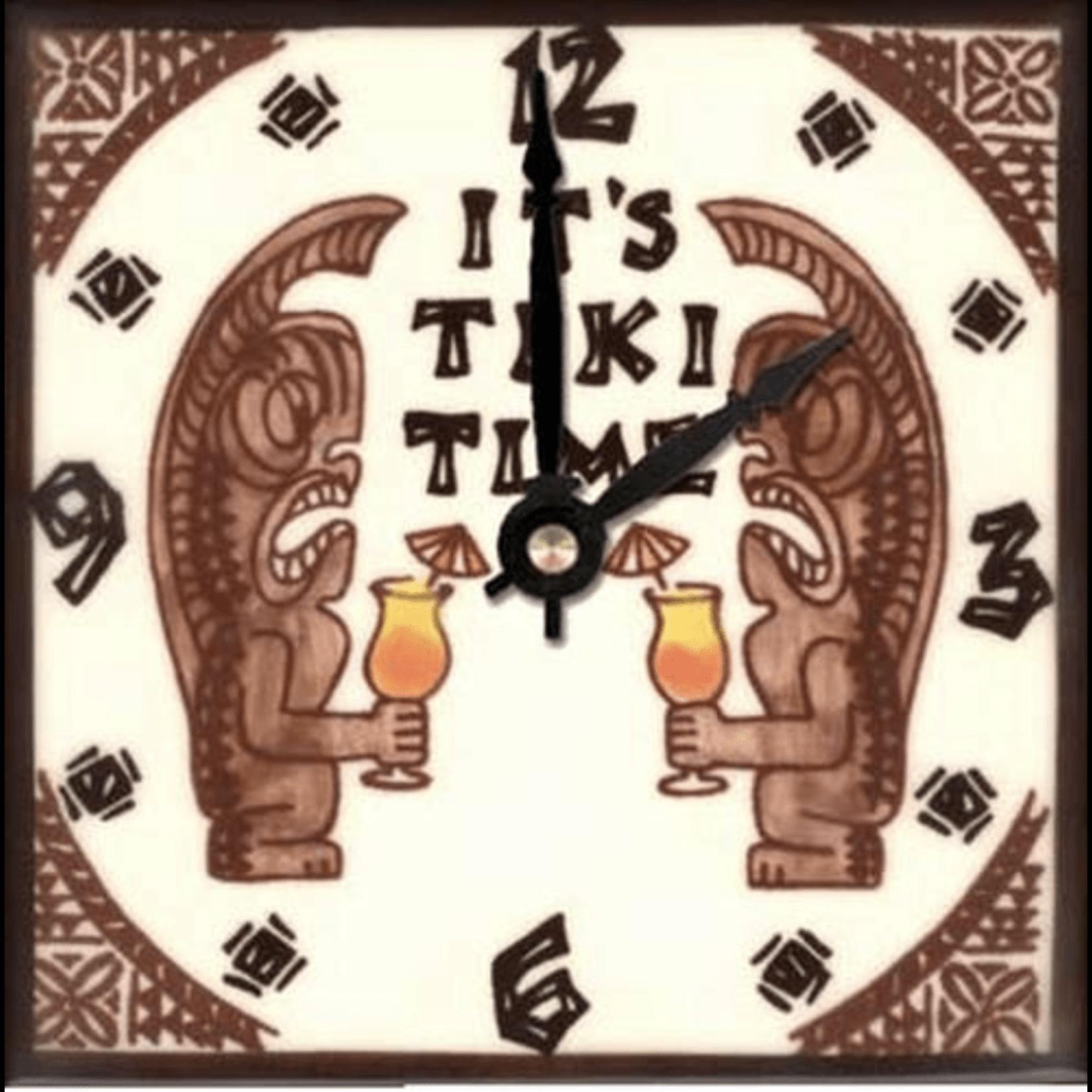 """Aloha Spice Co. Tiki Time Clock - 6"""""""
