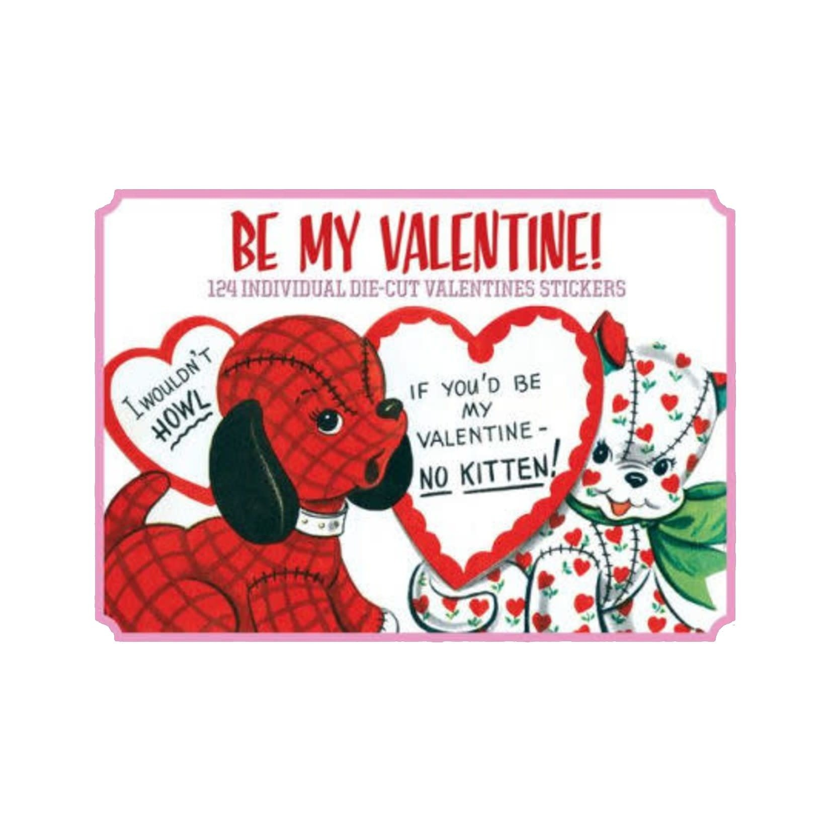 LAUGHING ELEPHANT Deluxe Sticker Box: Vintage Be My Valentine