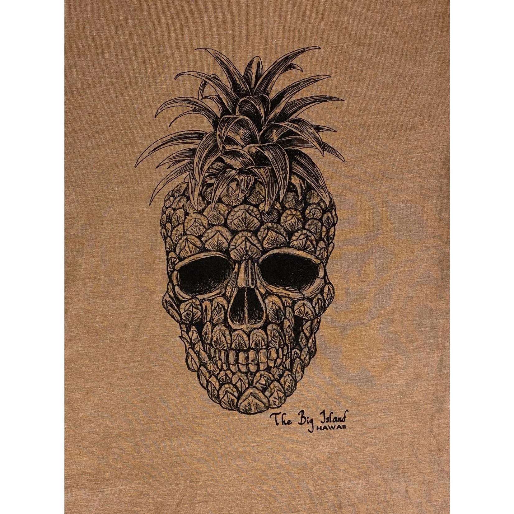 Blue 84 Munition Pineapple Skull FF Mens Triblend