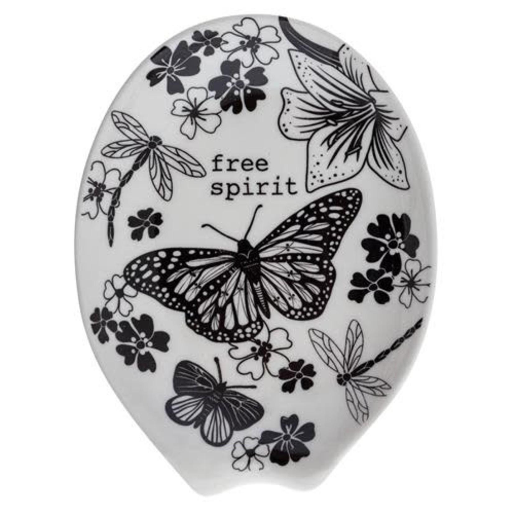 Karma Boho B/W Ceramic Spoon Rest