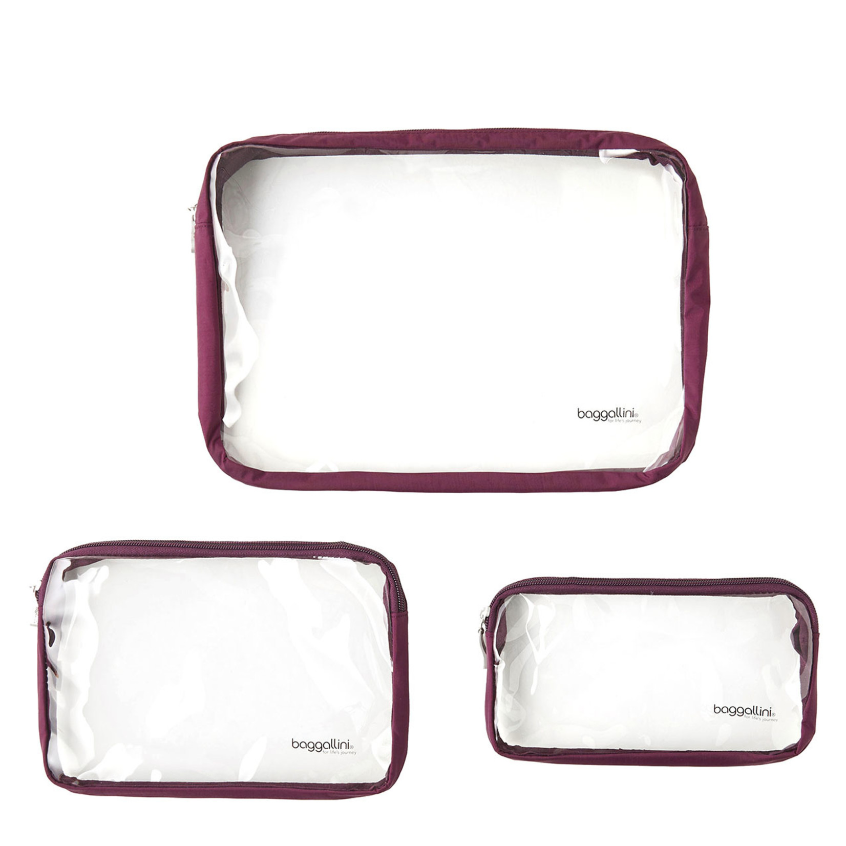 Baggallini Clear Travel Pouches