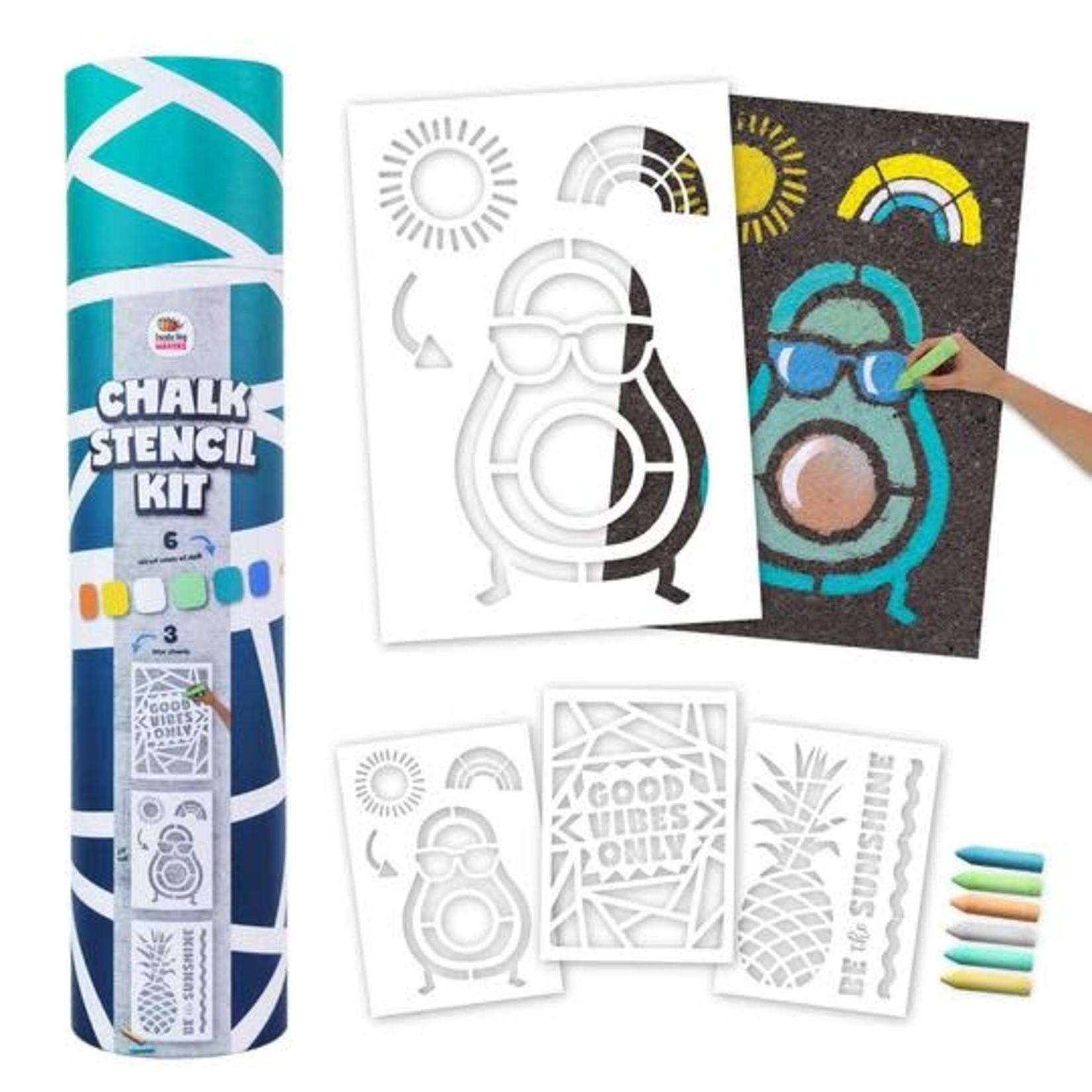 Doodle Hog Sidewalk Chalk Stencil Kit