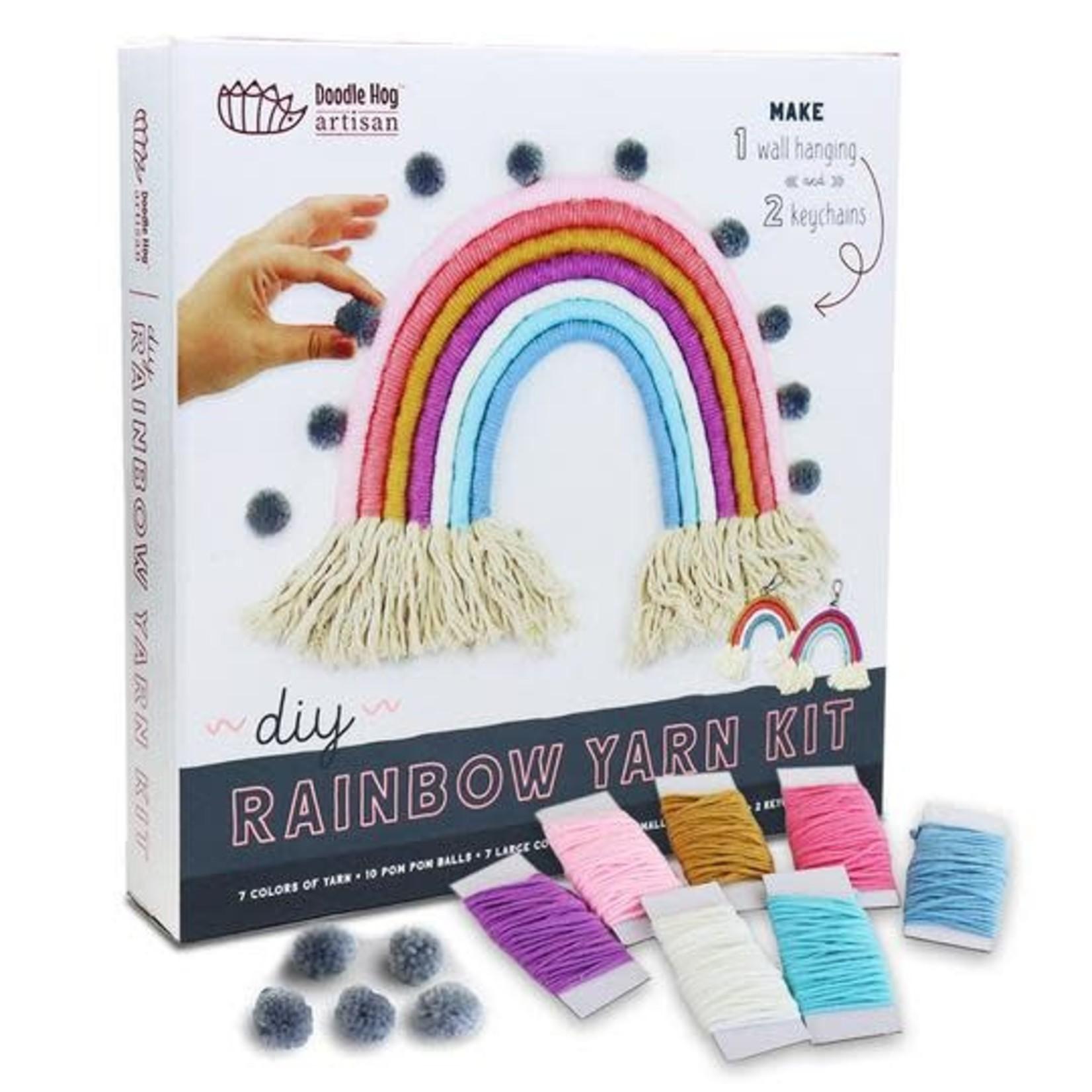 Doodle Hog DIY Rainbow Yarn Bedroom Decor