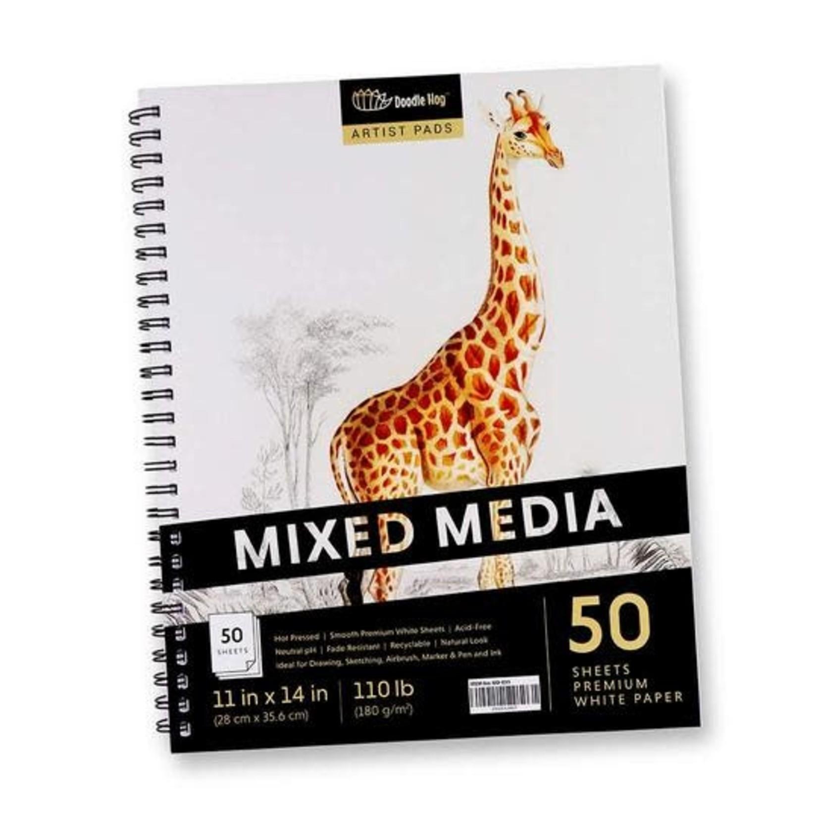 Doodle Hog Mixed Media Pad 11x14in