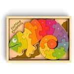 BeginAgain Counting Chameleon Puzzle-Bilingual!