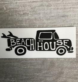 Beach House BEACH HOUSE PICKUP TRUCK STICKER