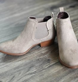 Taupe stretch bootie