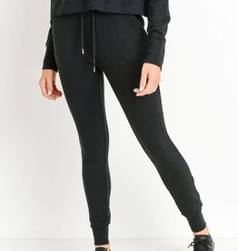 Black high waist slim cut joggers