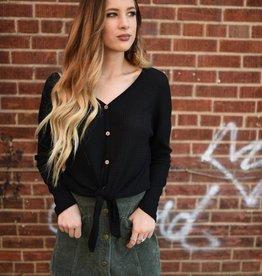 Olive button front pocket corduroy skirt