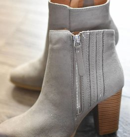 Grey suede tall bootie