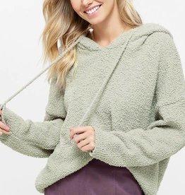 Shearling hoodie