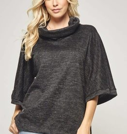 Dk grey knit pullover