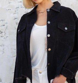 Black vintage corduroy jacket