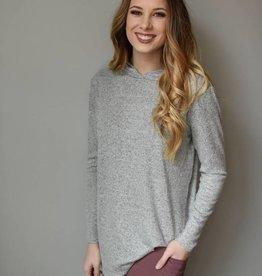 H. grey basic hoodie