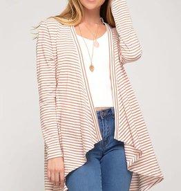 LS striped cardigan