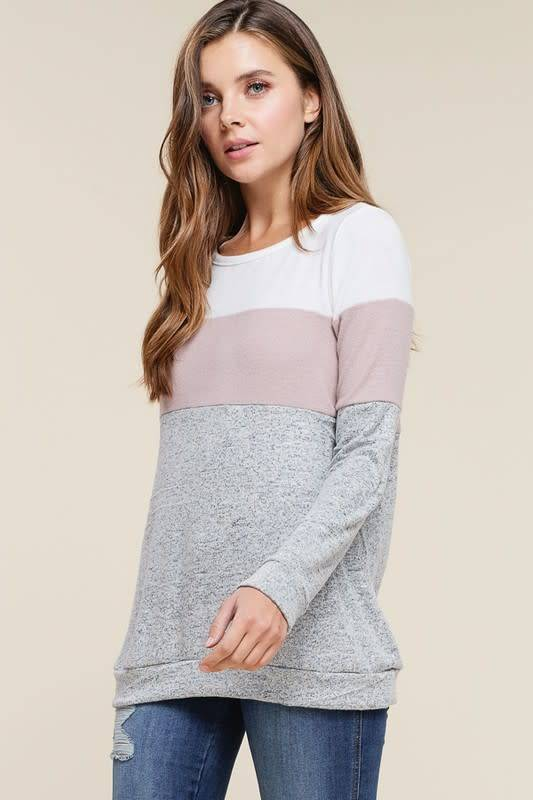 Greymauve Color Block Pullover Image Boutique