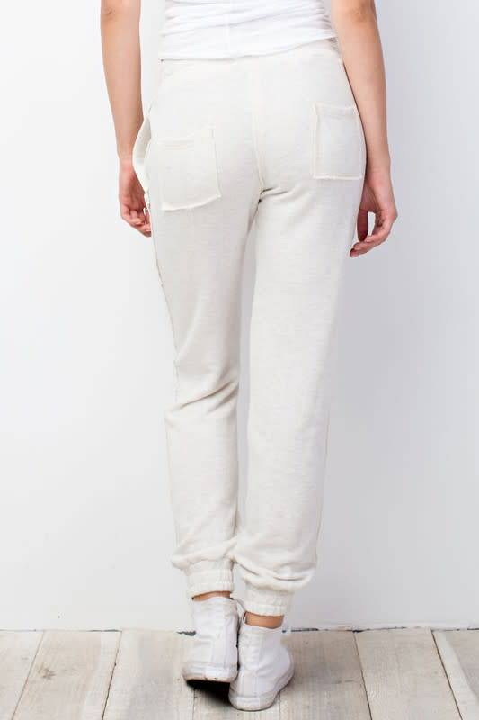 Two tone french terry joggers