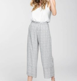 Black & white print culotte pants
