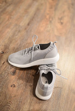 Light grey lace up sneaker