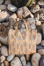 Yellow Branch linen tote bag