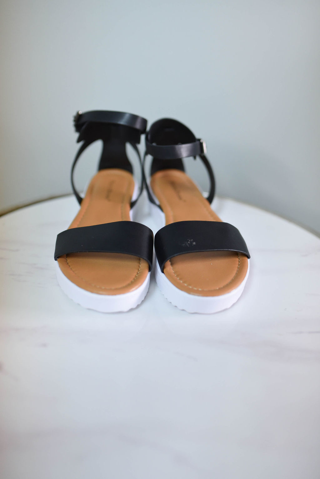 One band ankle strap platform sandal