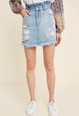 Lt denim high waist denim skirt