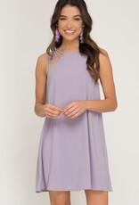 Lavender multi strap detail dress