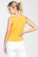Tie front sleeveless top