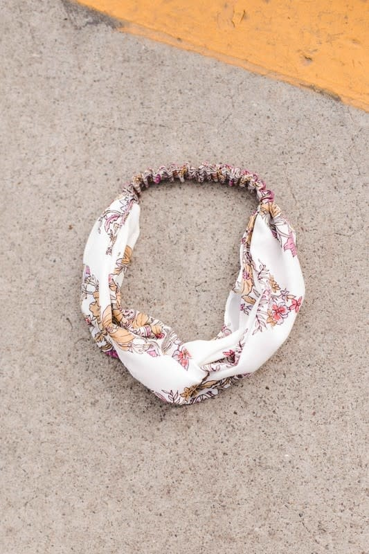Lilac floral headband